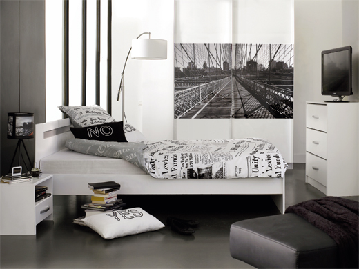 d co chambre new york adulte. Black Bedroom Furniture Sets. Home Design Ideas