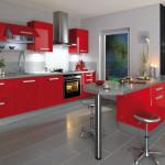 déco cuisine rouge et gris
