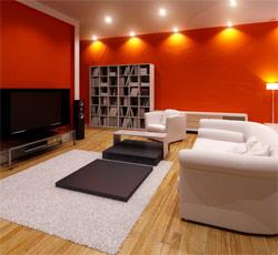 exemple déco salon couleurs chaudes