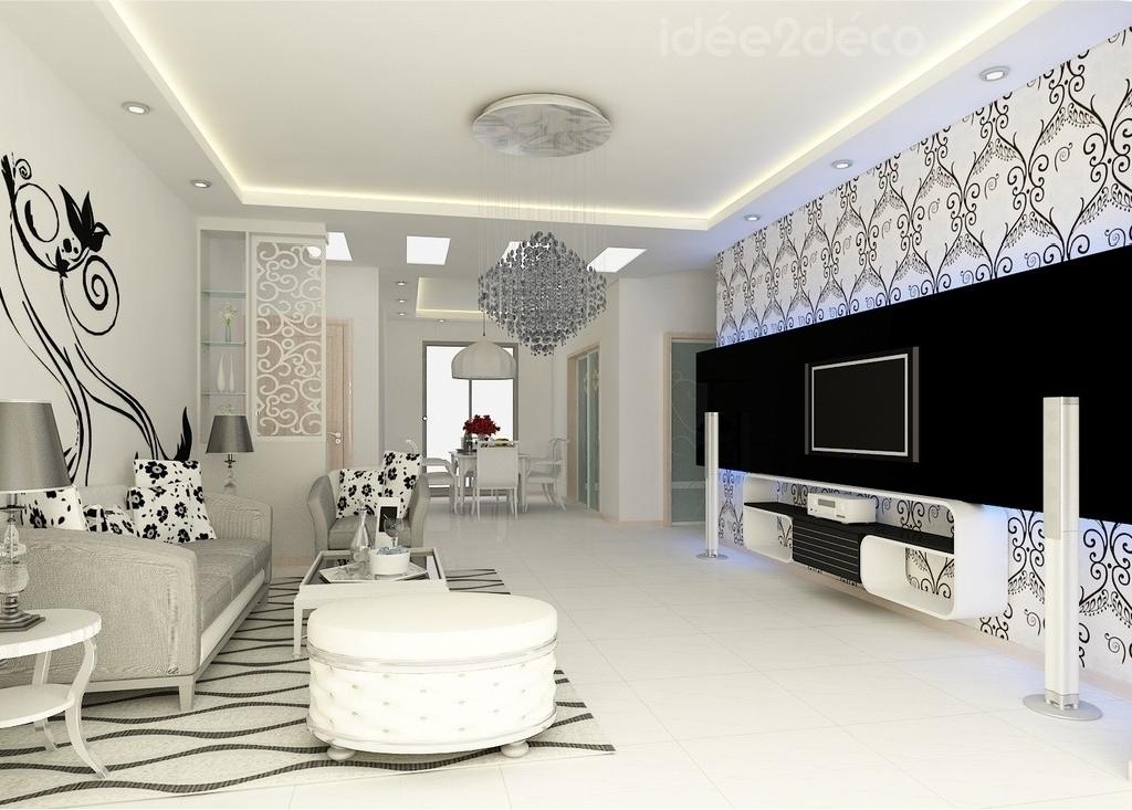 Salon Design Noir Et Blanc