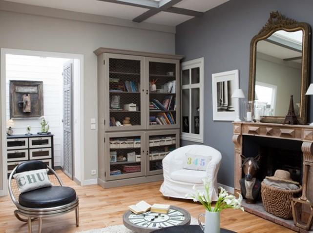 d co salon gris et bleu. Black Bedroom Furniture Sets. Home Design Ideas