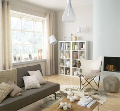 D co salon taupe et blanc - Idee deco salon taupe et blanc ...