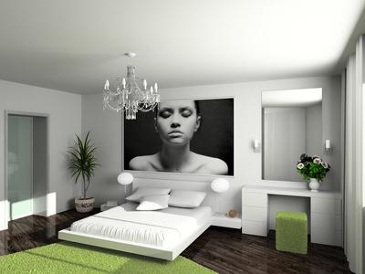 Photo décoration chambre à coucher adulte zen