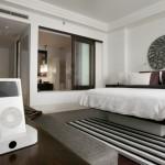 décoration chambre adulte blanc gris