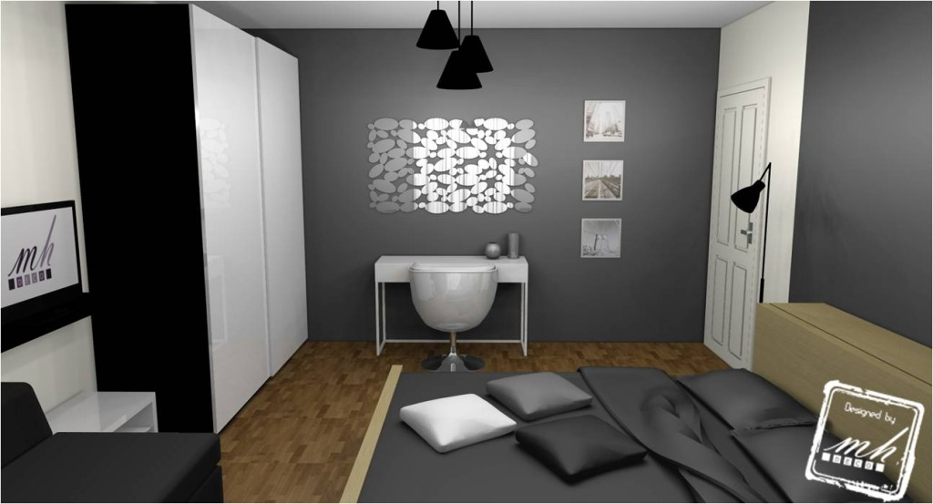 Beautiful Chambre Gris Et Blanc Contemporary  Design Trends