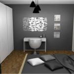 décoration chambre adulte gris et blanc