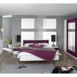 décoration chambre adulte gris et prune