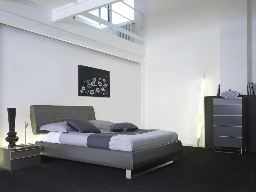d coration chambre adulte gris et vert. Black Bedroom Furniture Sets. Home Design Ideas