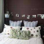 décoration chambre adulte gris et vert