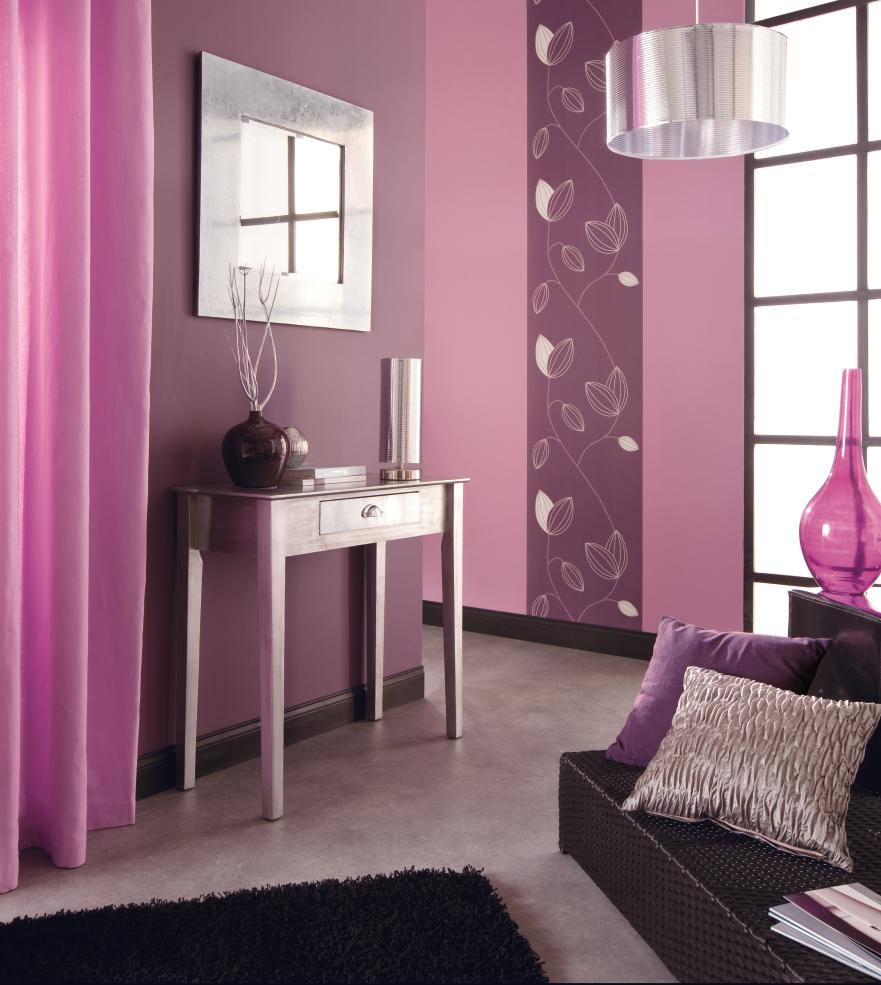D co chambre adulte gris et rose for Decoration maison fushia