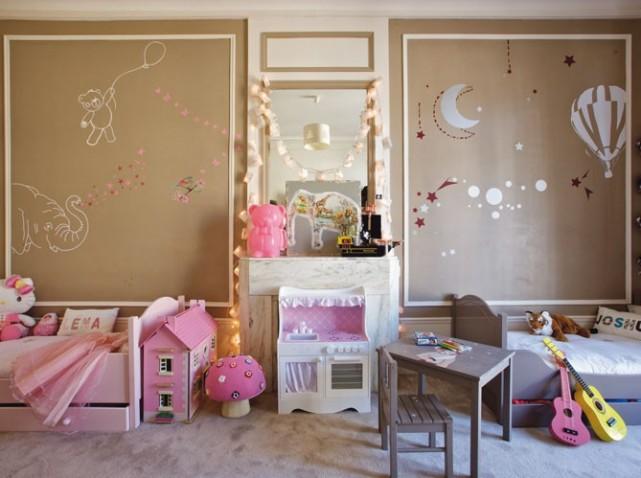 belle décoration chambre bébé fille et garcon
