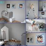 décoration chambre bébé garçon gris