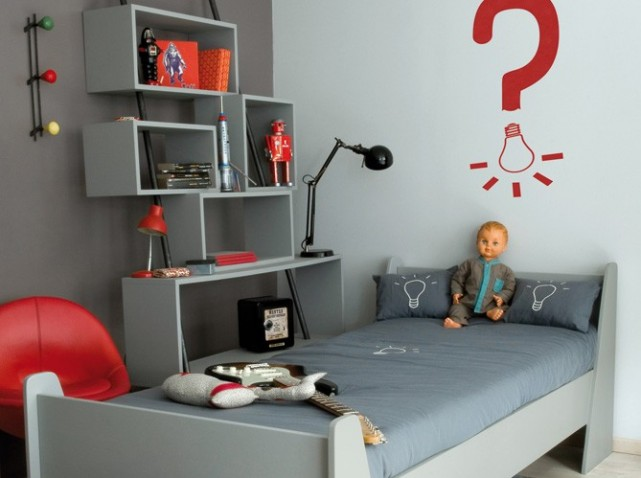 exemple décoration chambre bébé garçon gris