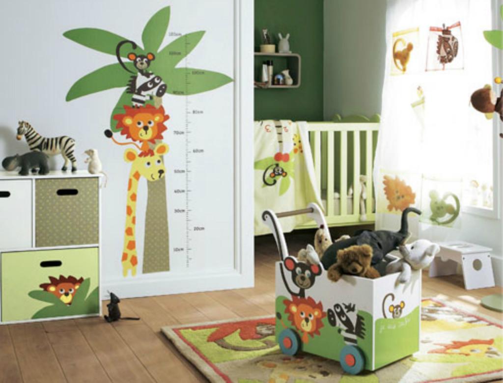 Photo décoration chambre bébé garçon jungle