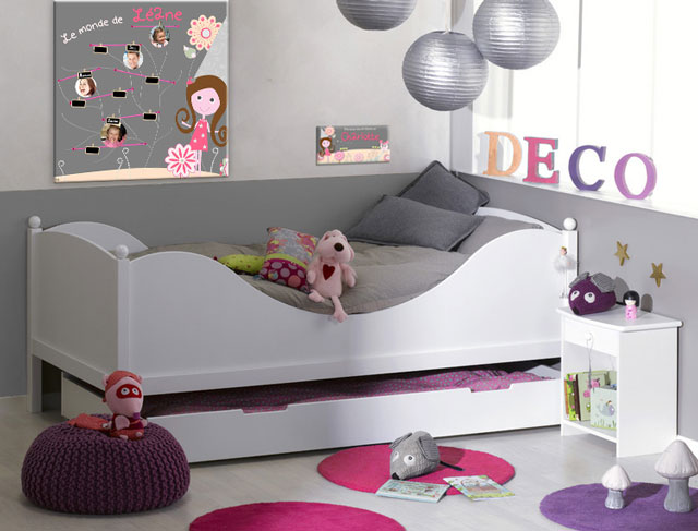 d coration chambre pour fille. Black Bedroom Furniture Sets. Home Design Ideas