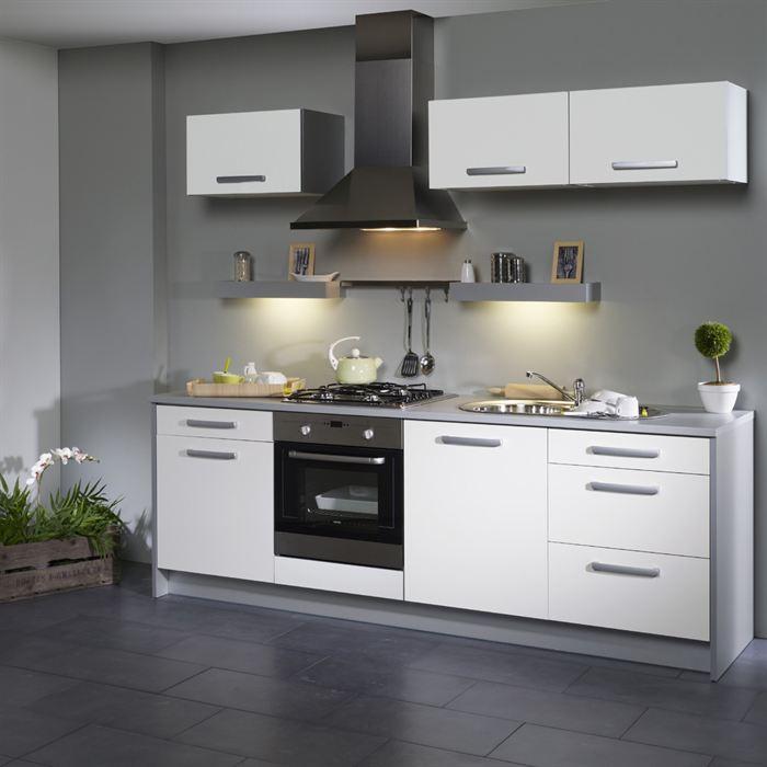 idee deco pour cuisine blanche et grise