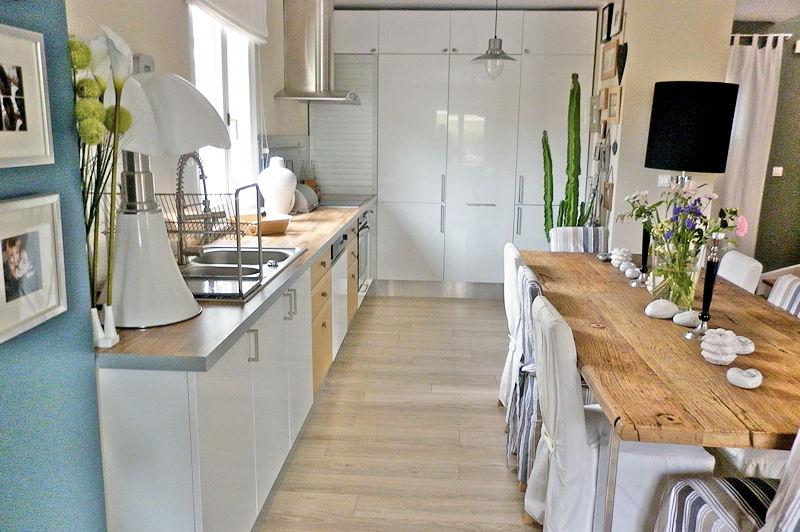 Beautiful Deco Cuisine Blanc Et Bois Photos - Ridgewayng.Com