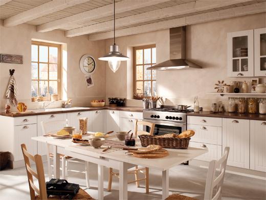 d coration cuisine blanche bois. Black Bedroom Furniture Sets. Home Design Ideas