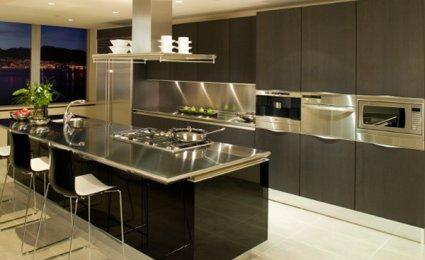 belle décoration cuisine moderne américaine - Photo Déco