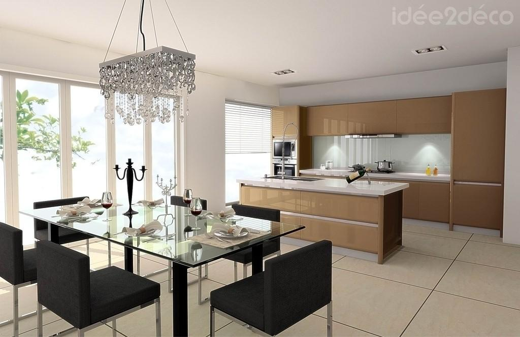 D coration cuisines modernes for Plan de la sala de 40m2