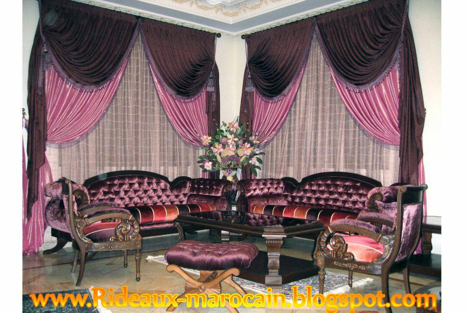 d coration rideaux salon 2013. Black Bedroom Furniture Sets. Home Design Ideas