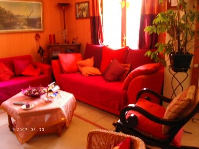 Photo décoration salon couleurs chaudes - Photo Déco