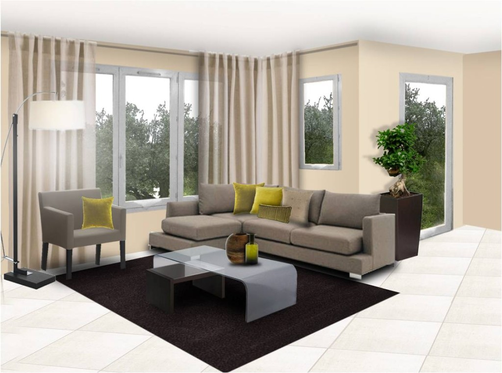 idée décoration salon moderne + salle à manger - Salle A Manger Et Salon Moderne