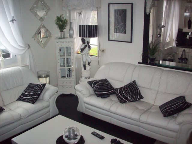 idée décoration salon salle à manger noir et blanc - Photo Déco