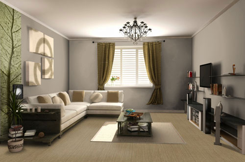 d coration salon taupe et lin. Black Bedroom Furniture Sets. Home Design Ideas