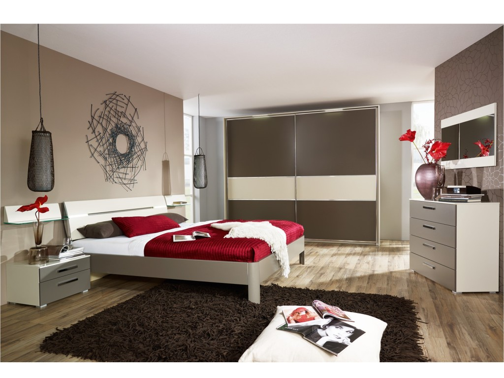Decoration Chambre Adulte Marron Contemporaine : Deco chambre à coucher adulte moderne