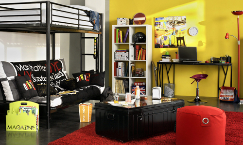 deco chambre new york city. Black Bedroom Furniture Sets. Home Design Ideas