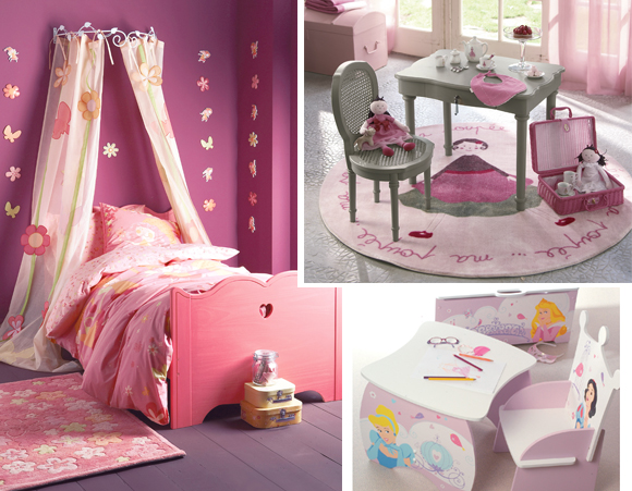 deco chambre petite fille princesse. Black Bedroom Furniture Sets. Home Design Ideas
