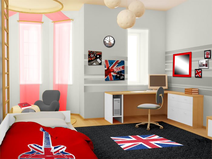 deco chambres londres. Black Bedroom Furniture Sets. Home Design Ideas