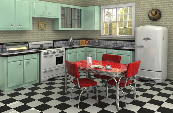Deco cuisine style retro - Deco retro chic ...