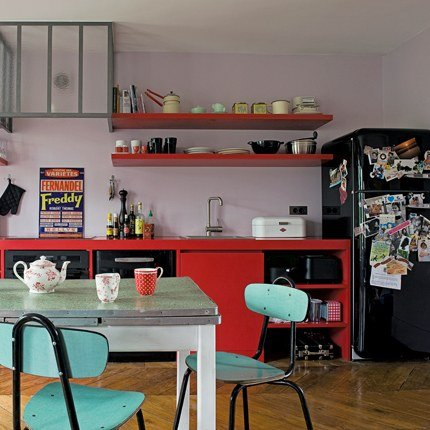 deco cuisine style retro. Black Bedroom Furniture Sets. Home Design Ideas