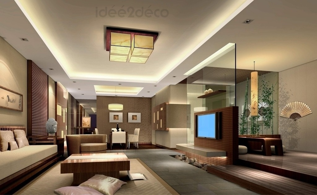 Deco salon contemporain for Modele de sejour salon