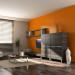 deco salon couleur orange