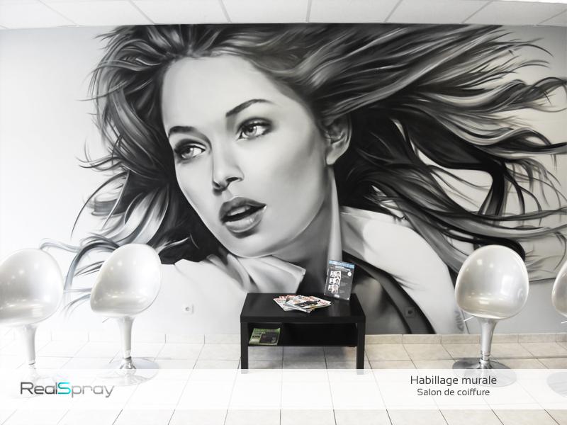 Deco salon de coiffure for Panneau publicitaire salon de coiffure