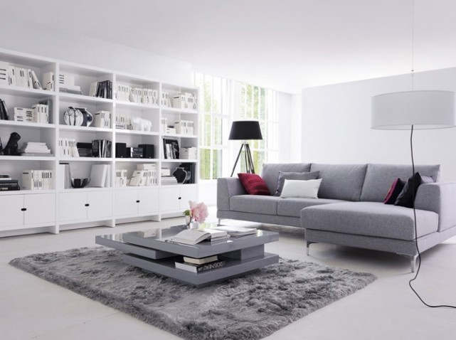 Decoration Salon Moderne Gris Decoration Interieur Original | Reseau