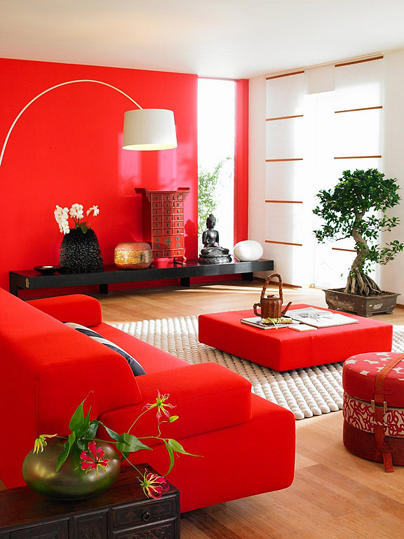 Deco salon design rouge - Deco salon rouge ...