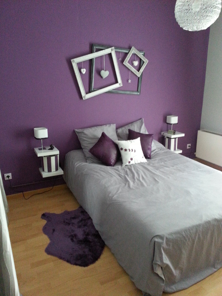 Photo suivante - Salon gris violet ...