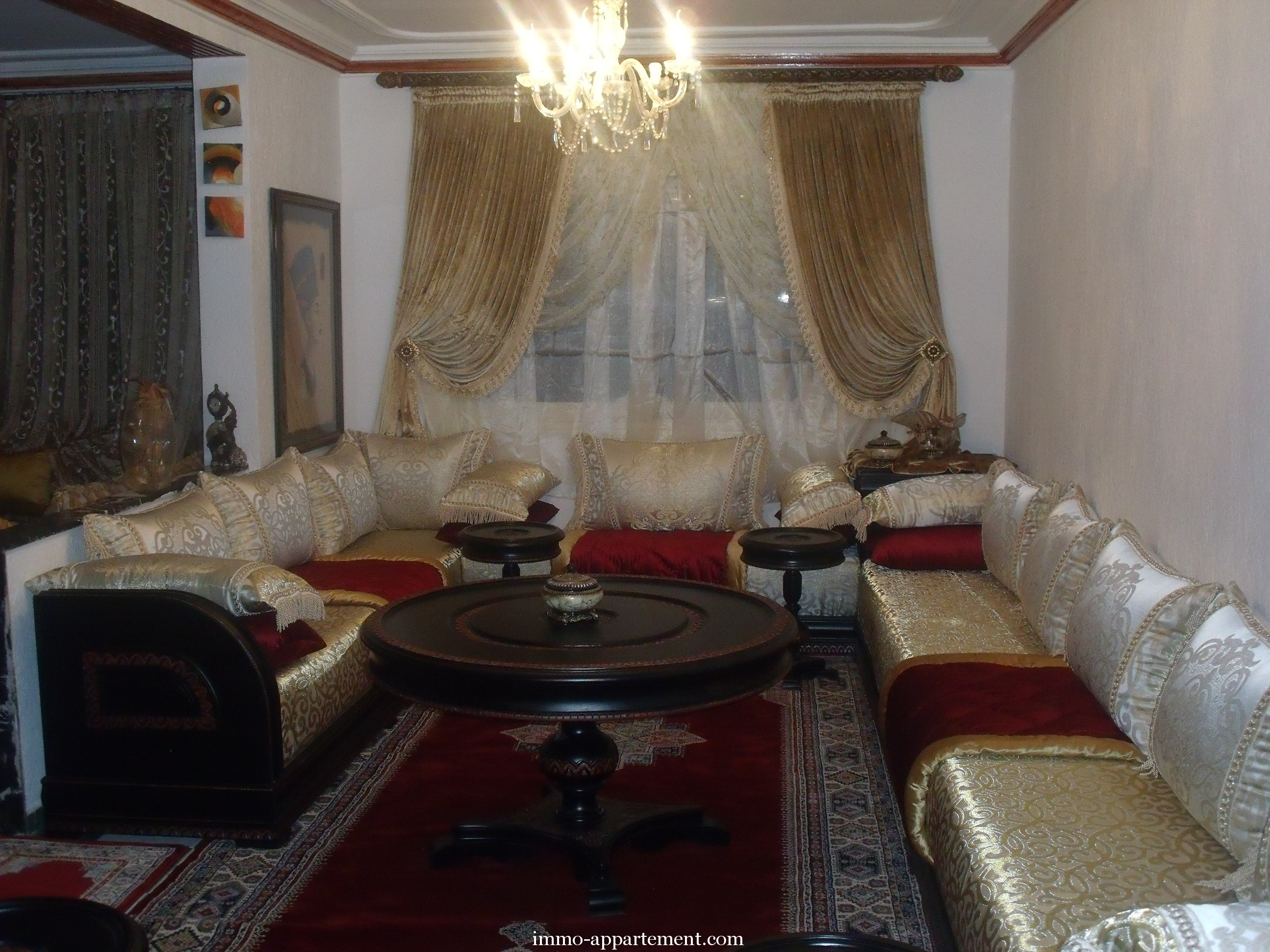 photo decoration deco salon marocain 2013. Black Bedroom Furniture Sets. Home Design Ideas