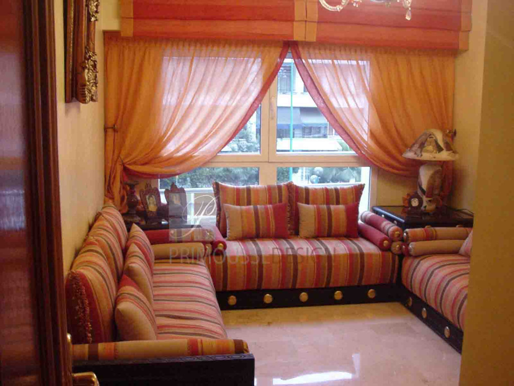 Photo deco salon marocain moderne