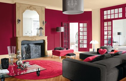 deco salon marron et rose. Black Bedroom Furniture Sets. Home Design Ideas