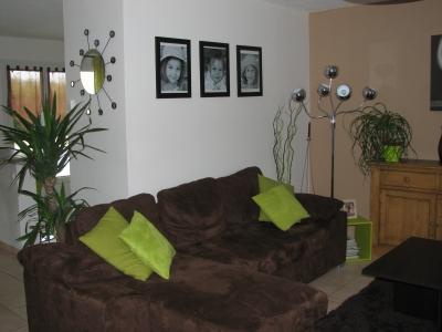 Deco salon marron et vert - Idee deco salon marron ...