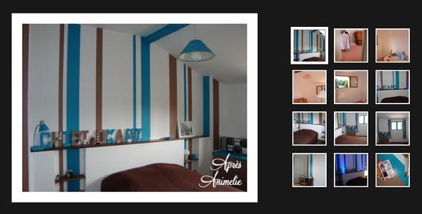 D co salle de bain marron et bleu - Chambre marron et turquoise ...
