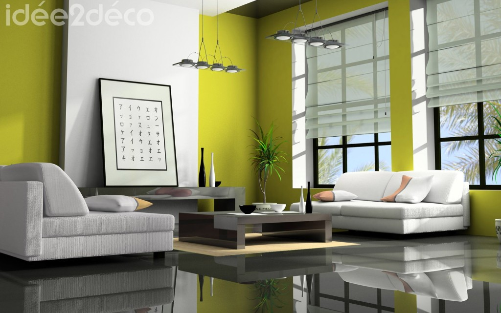 deco salon moderne. Black Bedroom Furniture Sets. Home Design Ideas