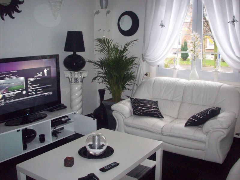 Deco salon moderne noir et blanc - Deco salon design gris ...