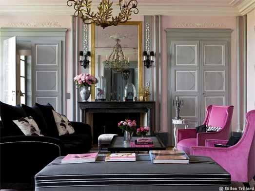 Emejing Deco Salon Noir Blanc Violet Ideas - Design Trends 2017 ...