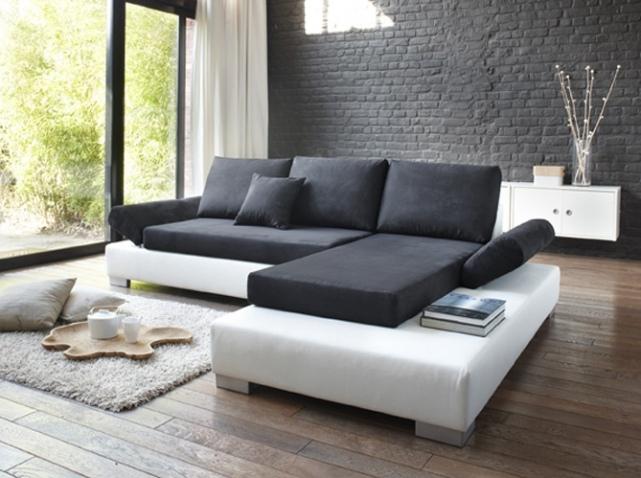 deco salon noir et blanc gris. Black Bedroom Furniture Sets. Home Design Ideas
